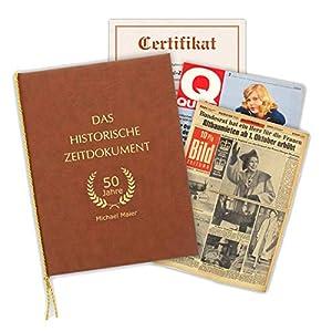 HISTORIA Historische Zeitung als Geschenkidee zum 60. Geburtstag: Zeitung vom Tag der Geburt inkl. Mappe mit Ihrer…