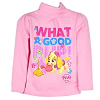 Official Paw Patrol Licensed Girl's Long Sleeve Turtle Neck Top NEW 2016 Collection Pink 6