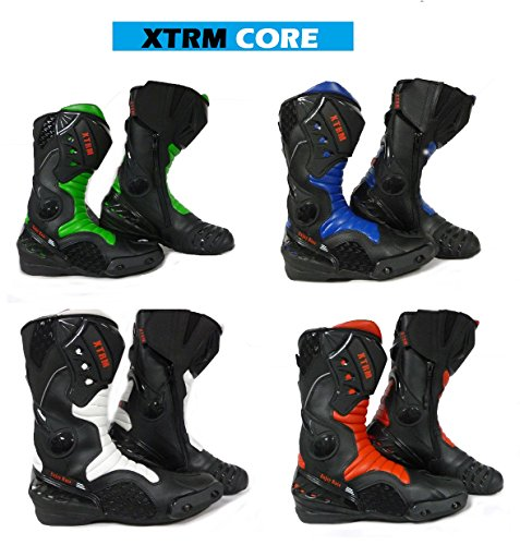 MOTORRADSTIEFEL XTRM CORE TOURING RACING SPORTS ALLROUND STIEFEL ALLE NEU FARBE (ROT, 46) (Cross-klappe)