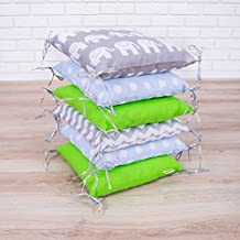 Amilian® Baby Nestchen Bettumrandung 210 cm Design21 Bettnestchen Kantenschutz Kopfschutz für Babybett Bettausstattung
