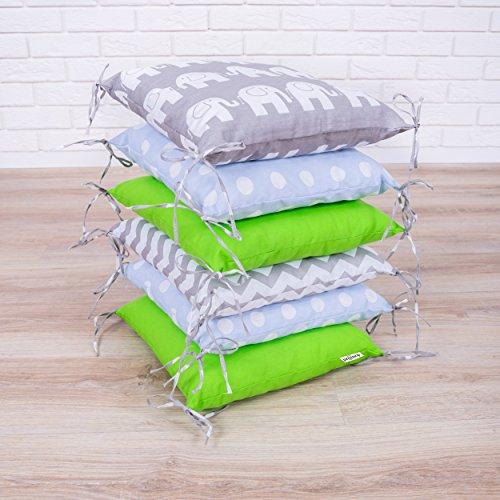 Baby Nestchen Bettumrandung 210 cm Design21 Bettnestchen Kantenschutz Kopfschutz für Babybett Bettausstattung