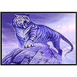 Mode Tiger Katze Schmetterling Diamant Painting 5D DIY Vollbohrer Diamant Malerei Stickerei Teil Runde Diamant Home Decor Festliche Geschenk Voller Diamant Anstrich 40 x 30 cm