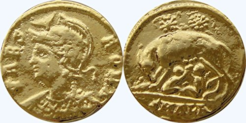 Impero Romano, Constantine The Great, First Christian Imperatore di Roma, Urbs Roma/Wolf & Twins 32-g