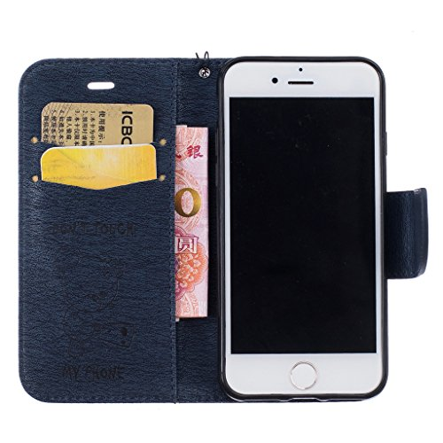 "Mo-Beauty, Borsa a tracolla donna Gold iPhone 6 Plus/6S Plus 5.5"" inch Blue"