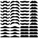 CCMART 48 pièces Auto-adhésives Faux Moustache Set Moustaches Nouveauté pour...