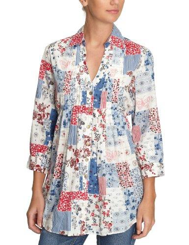 Fornarina Textil Damen Shirt/ T-Shirt, BER4326C62089 Weiß (milk)