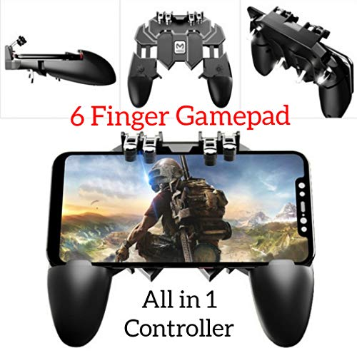 YouFirst Pubg Mobile Controller [ 6 Finger Gamepad/Upgrade Version] Mobile Game Controller,L1R1 Trigger/Rules of Survival/Survivor Royale/Free Fire/Knives Out Free Mobile