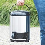 COM-FOUR® 9 Liter Insulated Beverage Dispenser with 2 Dispensing taps, Large Vacuum jug, Mulled Wine Dispenser, Boiler Airpot (01 Piece - Vacuum jug 9 liters)