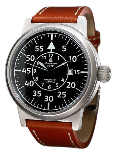 Aeromatic 1912 A1143 - Reloj para hombres, correa de cuero