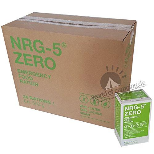 Not Catering 24x NRG de 5Zero sin gluten supervivencia 500g Not Corporation Not Cautela | 24x 9cerrojo en ventaja de cartón supervivencia Alimentos Expeditions inicial como EPA