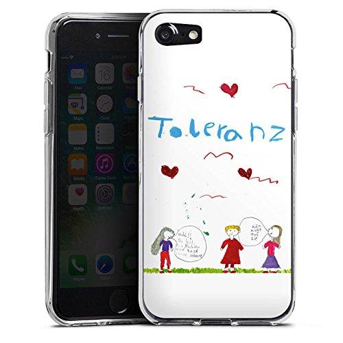 Apple iPhone X Silikon Hülle Case Schutzhülle Kinder Zeichnung Fina Silikon Case transparent