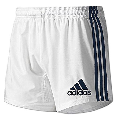 adidas Herren Climacool Short 3-Streifen Base (UK-30/D-S/F-40, weiß-blau) (Climacool-rugby)