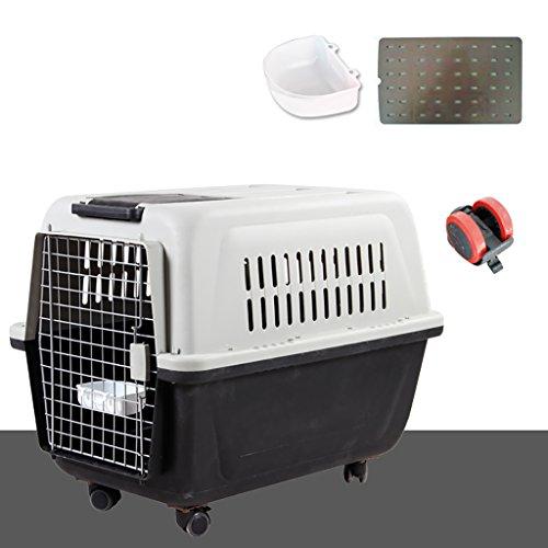 Caja de envío de mascotas Air Caja de envío de animales ventiladas respirable Fácil de instalar Limpieza Pequeña caja de mascotas de gato resistente y portátil ( Color : D , Tamaño : 80*55*60cm )