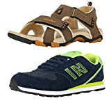 #6: Lotto Men's Combo of Sandal & Globalite Shoes