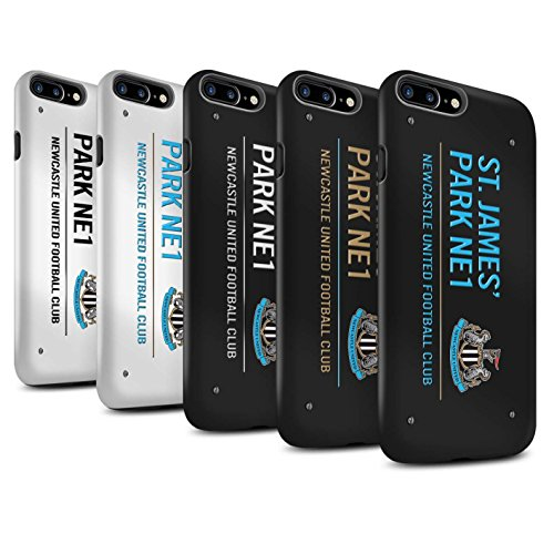 Officiel Newcastle United FC Coque / Matte Robuste Antichoc Etui pour Apple iPhone 7 Plus / Pack 6pcs Design / St James Park Signe Collection Pack 6pcs