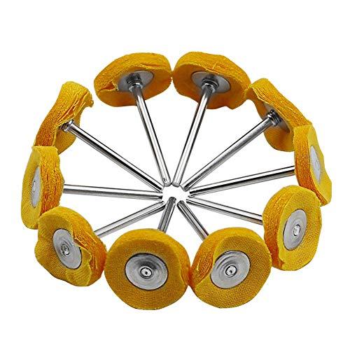 PoeHXtyy 10 STÜCKE Polieren Polierscheibe Set Tuch Little Buff Rad für Drehbohrwerkzeug Dremel Polnischen Puffer Kit -