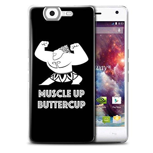 Stuff4® Hülle/Case für Wiko Highway 4G / Muscle Up Buttercup Muster/Karikatur Polynesische Prinzessin Kollektion