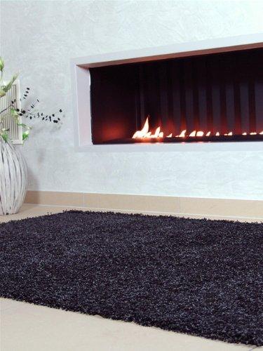 benuta Shaggy Hochflor Teppich Swirls    Langflor Teppich für Schlafzimmer und Wohnzimmer