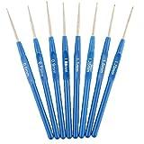 Tiptiper 8 stücke Ergonomische Häkelnadeln PLUS Eye Blunt Nadeln für Arthritische Hände Weben Garn Stricknadeln