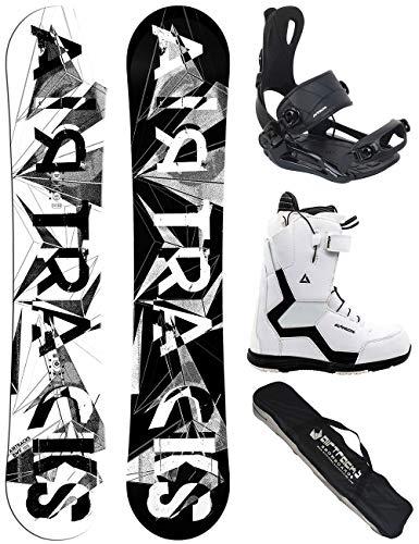 Airtracks Damen Snowboard Set/BWF Lady 150 + Snowboard Bindung Master + Snowboardboots Strong QL W 41 + Sb Bag