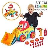 VATOS Disassemblable Spielzeug Car Kit, Baufahrzeuge,Kinder DIY Spielzeug Bohrmaschine Schrauben Tool Kit mit Klang & Lichter Für Kinder ab 3 Jahren