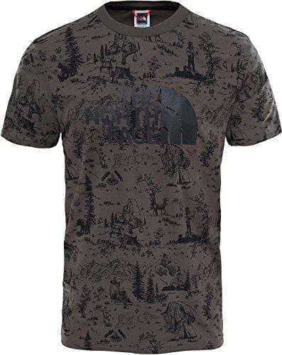 The North Face Herren Easy T-Shirt, Rot Blackinkgrntoiledejouyprt