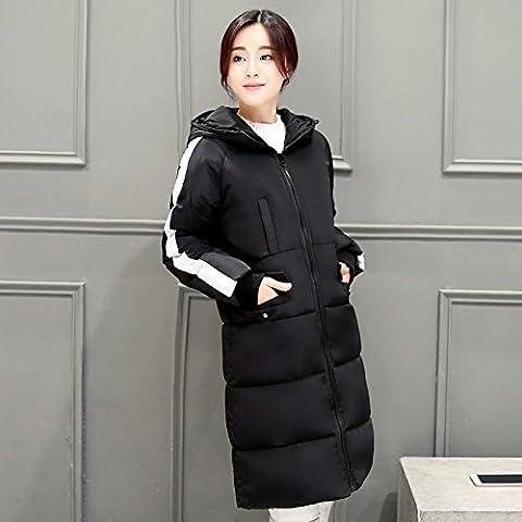 MYM Abbigliamento invernale lungo grosso nuovo gi¨´ ragazze giacca slim europeo anatra bianca gi¨´ le donne cappotto slim di donne di dimensioni pi¨´ , black , 2xl