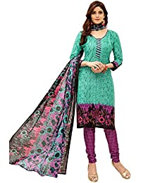 82b6823501a Minu Suits Cyan Cotton Salwar Suits Sets