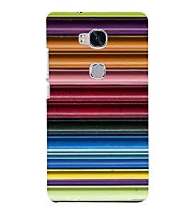 Fiobs Designer Back Case Cover for Huawei Honor 5X :: Huawei Honor X5 :: Huawei Honor GR5 (Lines 3D Glossy Colorfull Patterns Design )