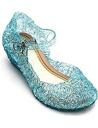 Principessa Elsa Cenerentola Ragazze Scarpe Con Tacco, Blu, Partito Scarpe Sandali, per bambini, per compleanno, Carnevale, Halloween