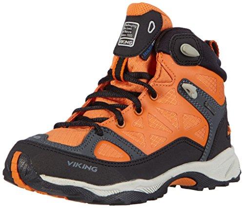 Viking  ASCENT JR. GTX, Chaussures de trekking et randonnée mixte enfant Orange  - Orange - Orange (Rust/Black 6302)