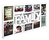 Close Up® 3D Fotorahmen Family für 10 Fotos- Qualität Collage Bilderrahmen XL - ca. 73x37 cm - weiß für Close Up® 3D Fotorahmen Family für 10 Fotos- Qualität Collage Bilderrahmen XL - ca. 73x37 cm - weiß