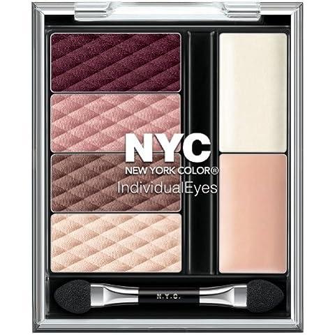 N.Y.C. New York Color Individual Eyes, Midtown Mauves (Brown Eyes), 0.056 Ounce by N.Y.C.
