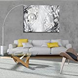 FORWALL Bilder Abstrakt, Diamanten und Silber O1 (100cm. x 75cm.) Leinwandbilder Wandbild AMFPP10406O1