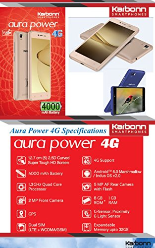 Karbon Aura Power 4G Gold