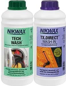 VAUDE Produits d'entretien Nikwax Tech Wash plus TX Direct, 2 X 1 Litre, 30311