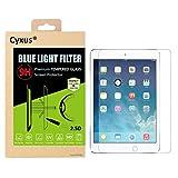 Cyxus filtro de luz azul pantalla bloqueo uv [mejor sueño] 9H protector de pantalla de vidrio temperado para apple ipad pro(9,7 pulgada)