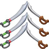 Yojoloin 6 UNIDS Espada Pirata Inflable Globos de Palo para Suministros de Fiesta Favores de Fiesta Decoraciones Disfraces Accesorios Accesorios (6 PCS)