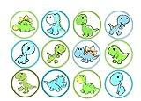 12 Stück Muffinaufleger Muffinfoto Aufleger Foto Bild Dinosaurier (5) rund ca. 6 cm *NEU*OVP*