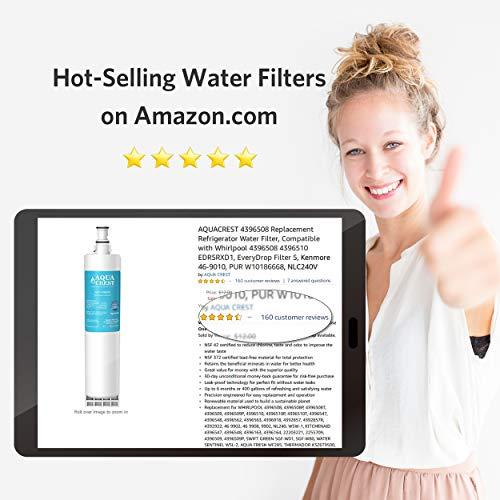 AQUACREST 4396508 Kühschrank Wasserfilter, kompatibel mit Kenmore SBS002, S20BRS, Whirlpool 4396508, 481281729632, 461950271171, EDR5RXD1, Filter 5