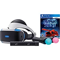 Sony PlayStation VR PSVR Battlezone Starter Bundle 4 items: VR,motion, camera and vr game disc- PSVR Battlezone - PlayStation 4(Versione USA, importato) - Demo Bundle