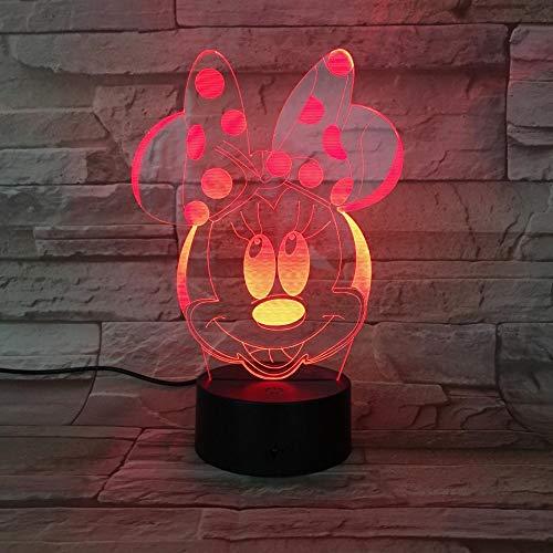 t jungen mädchen kind kinder baby geschenk hologramm dekorative lichter tischlampe nacht minnie maus abbildung a-1777 ()