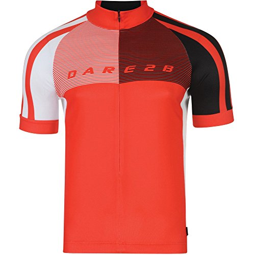 Dare 2b Mens AEP Chase Out Polyester Short Sleeved Cycling Jersey Seville Red
