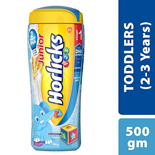 Horlicks Junior Stage 1 Health & Nutrition drink - 500g (2-3 years, Original flavor)