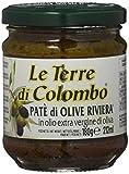 Le Terre di Colombo - Patè di olive Riviera in olio extravergine di oliva (10%), confezione da 6, 212 ml