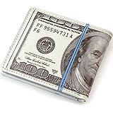 Lindo bifold 100 USD dólar billetera dinero monedero novedad regalo adolescentes estudiantes hombres hombres mujeres dama caja de la moneda bolsa de cuero de LA PU Nuevo Monedero de hombre con moneder