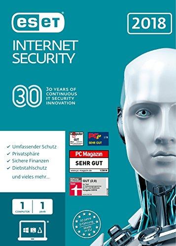 ESET Internet Security 2018 | 1 User | 1 Jahr Virenschutz | Windows (10, 8, 7 und Vista) | Download (Security Mit Backup)
