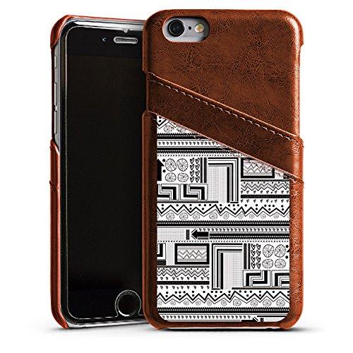 Apple iPhone 5s Housse Outdoor Étui militaire Coque Style ethnique Style ethnique Abstrait Étui en cuir marron