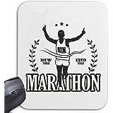 Mousepad alfombrilla de ratón MARATHON MARATHON corredor de maratón EE.UU. CAMISA MARATHON MEDIA