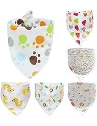 Acme Made 6 baberos de algodón absorbente para bebés